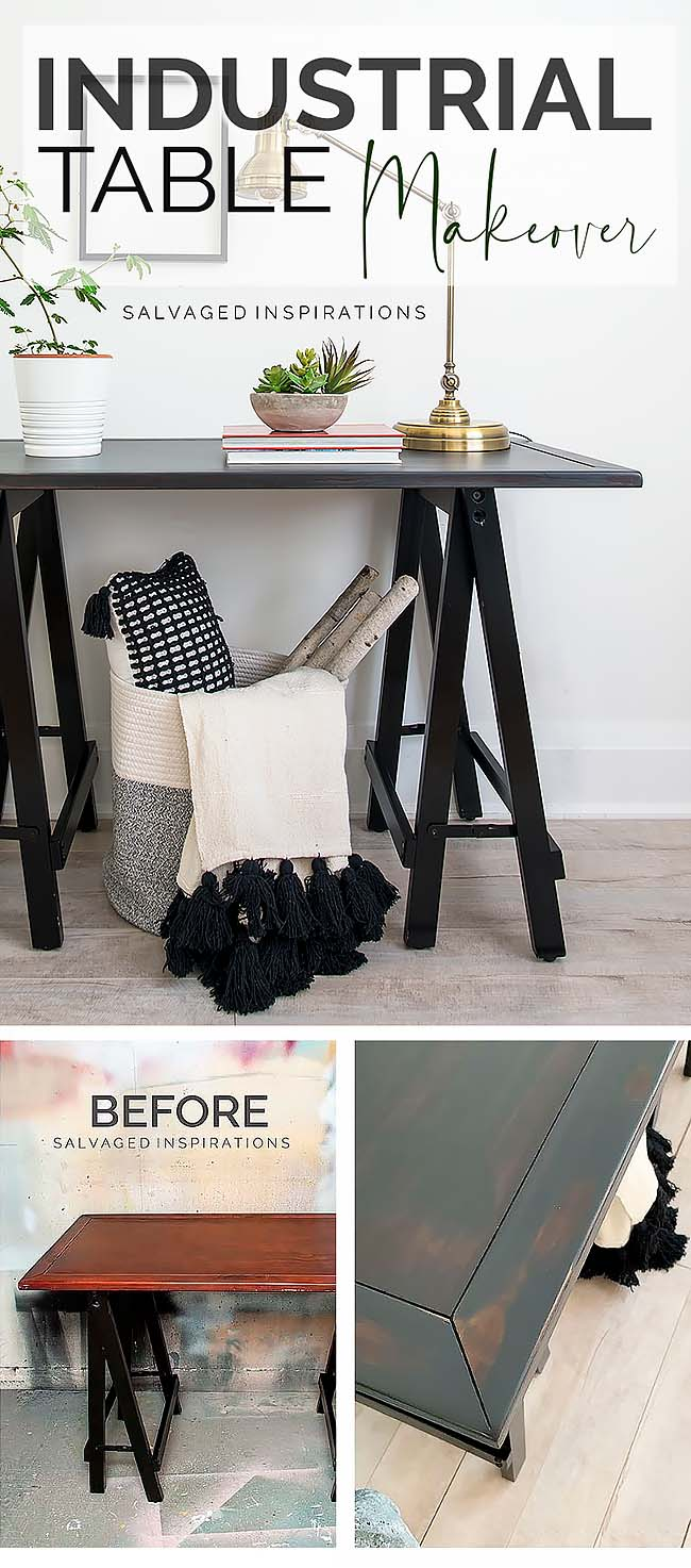 Industrial Hall Table Makeover PIN