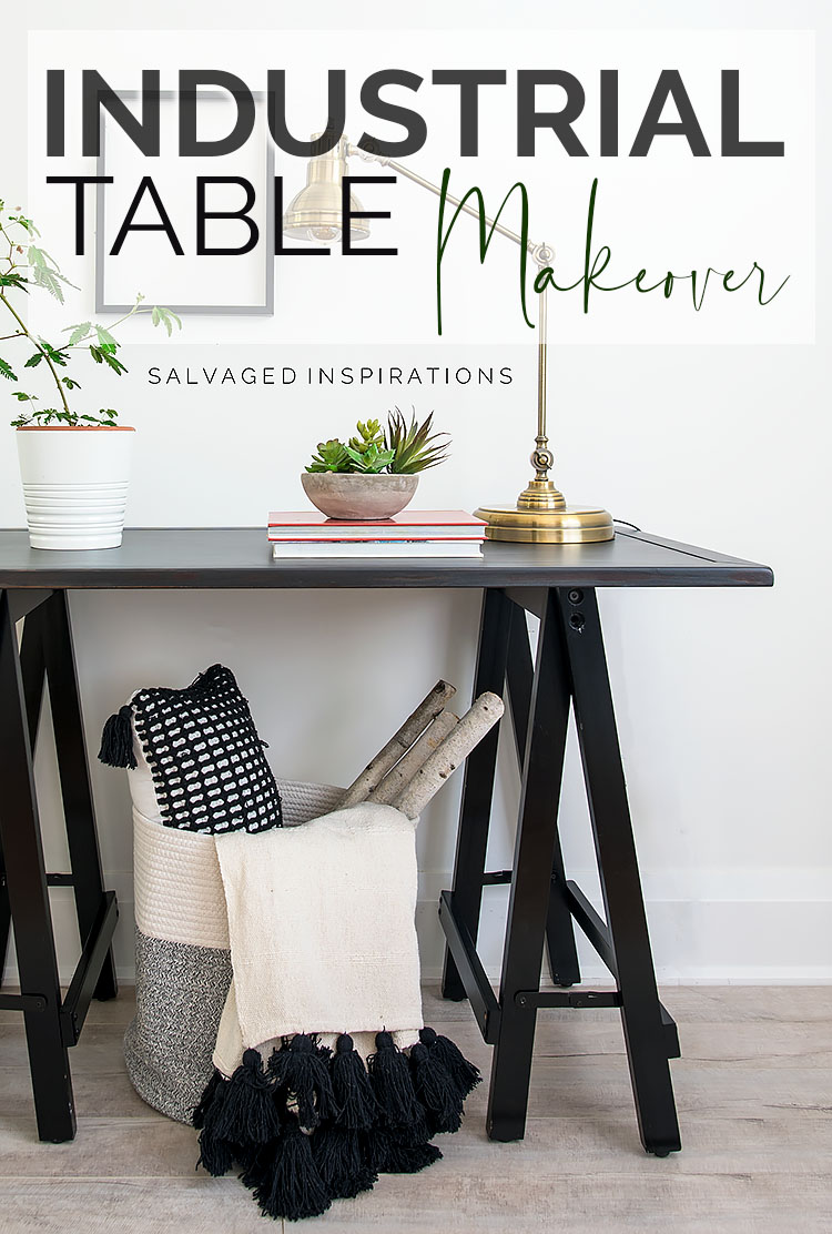 Industrial Hall Table Makeover TXT