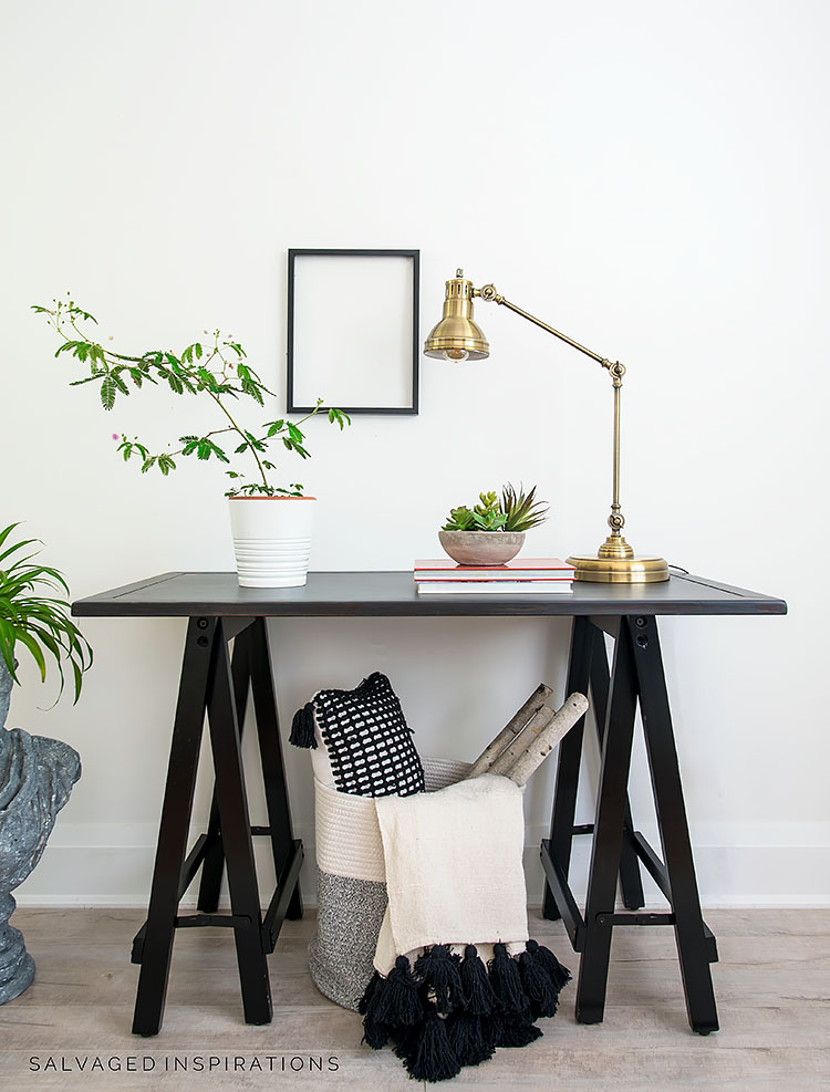 Industrial Hall Table Makeover