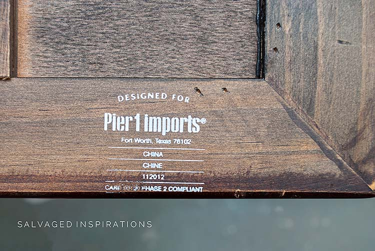 PIER 1 IMPORTS TABLE