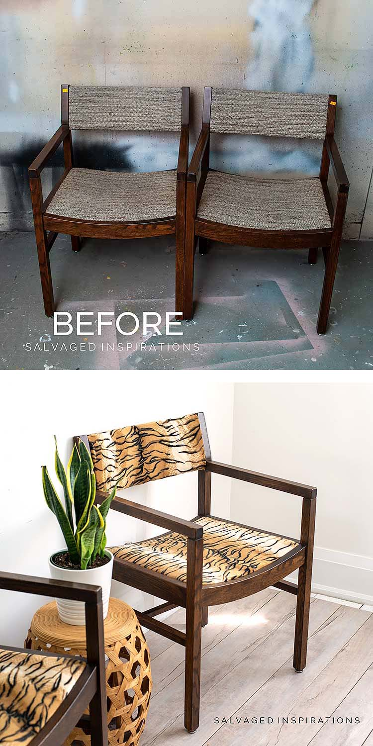 ReUpholstered Chairs Before and After