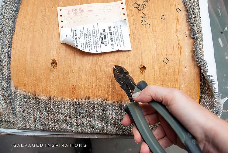 Removing Chair Seat Fabric
