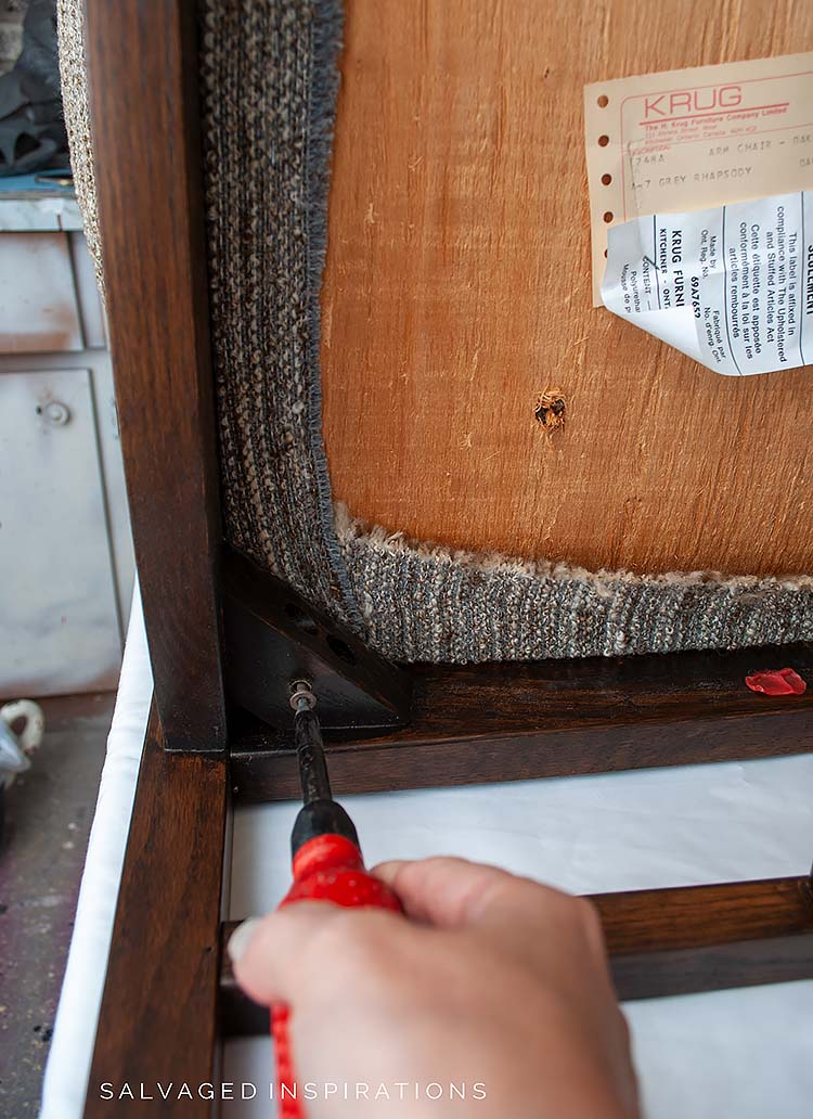Removing Upholstered Seat From Chair