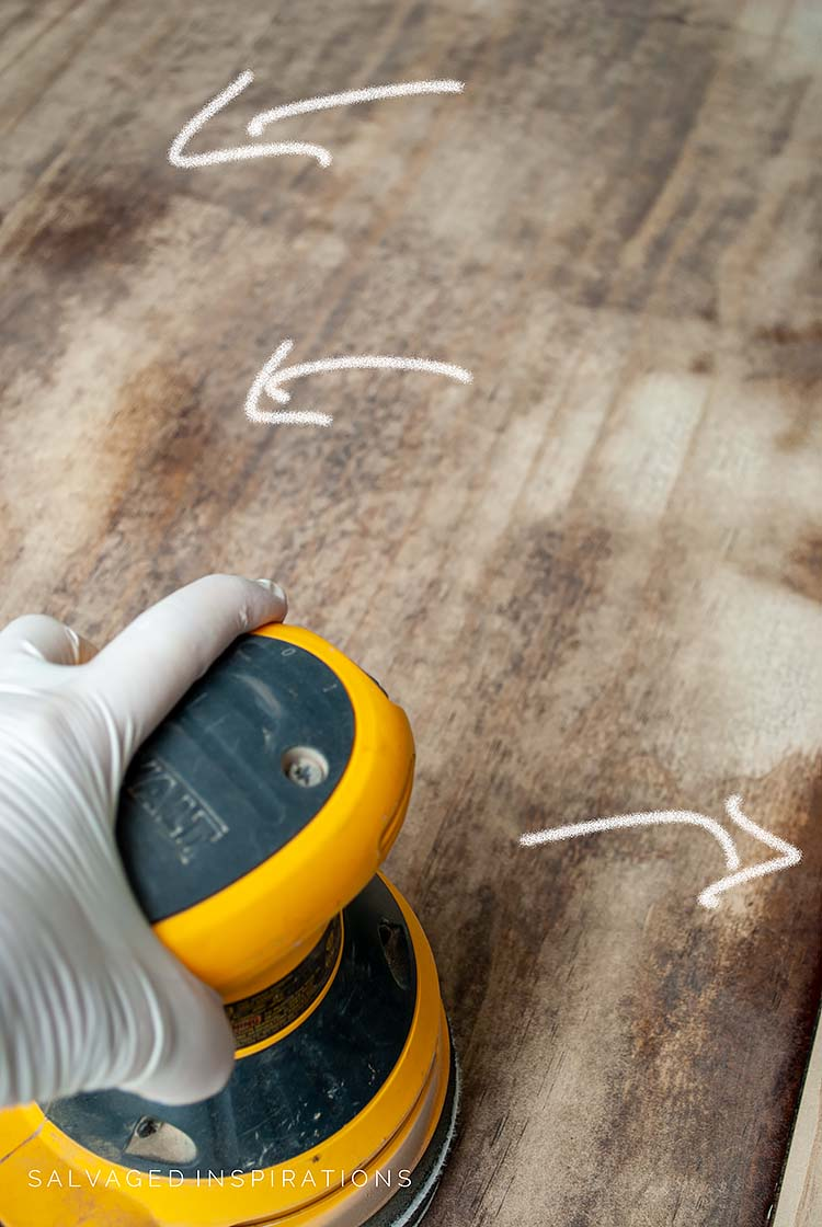 Sanding For Industrial Top Finish