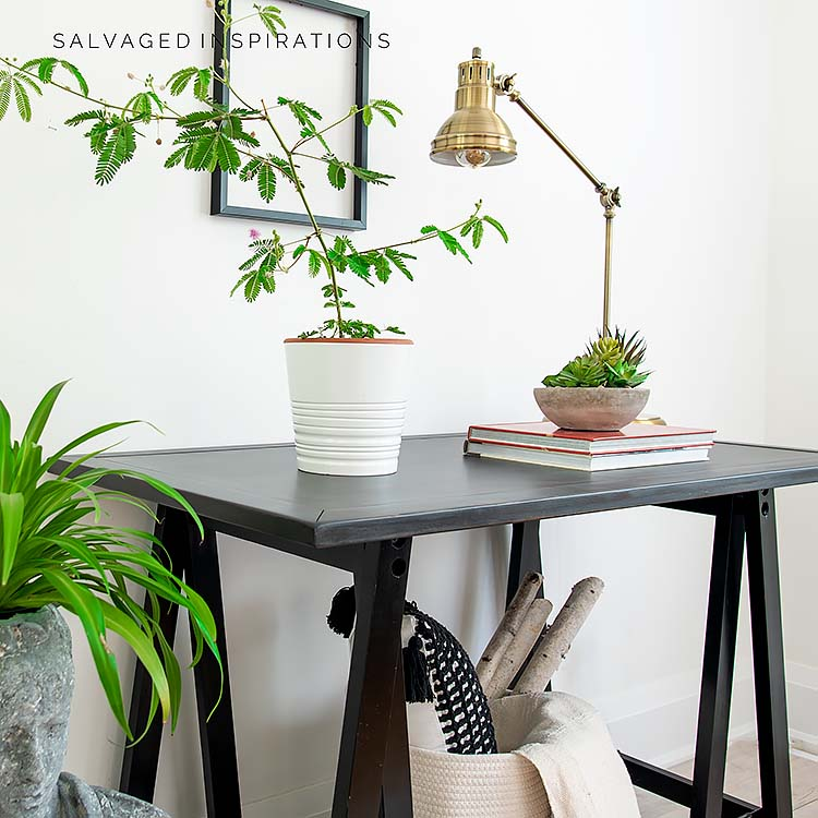 Side View of Industrial Hall Table IG