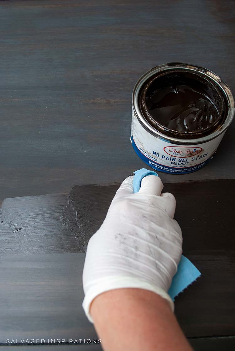 Staining Over Black Wash