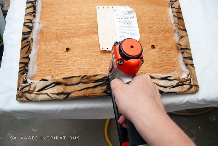 Stapling Fabric To Chair Seat