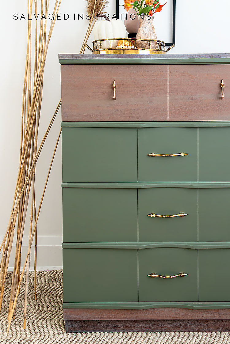 Suzanne's Juniper Fall Painted MCM Dresser