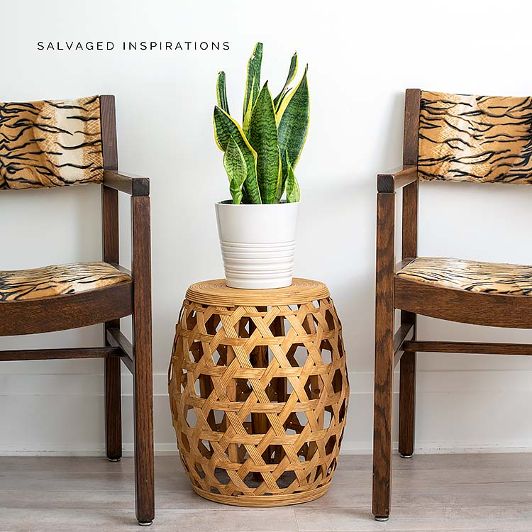Two Occasional Chairs W DIY Upholstered Seats IG
