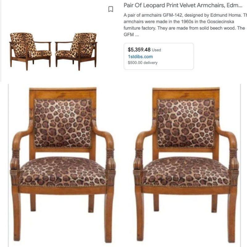inspo animal print chairs