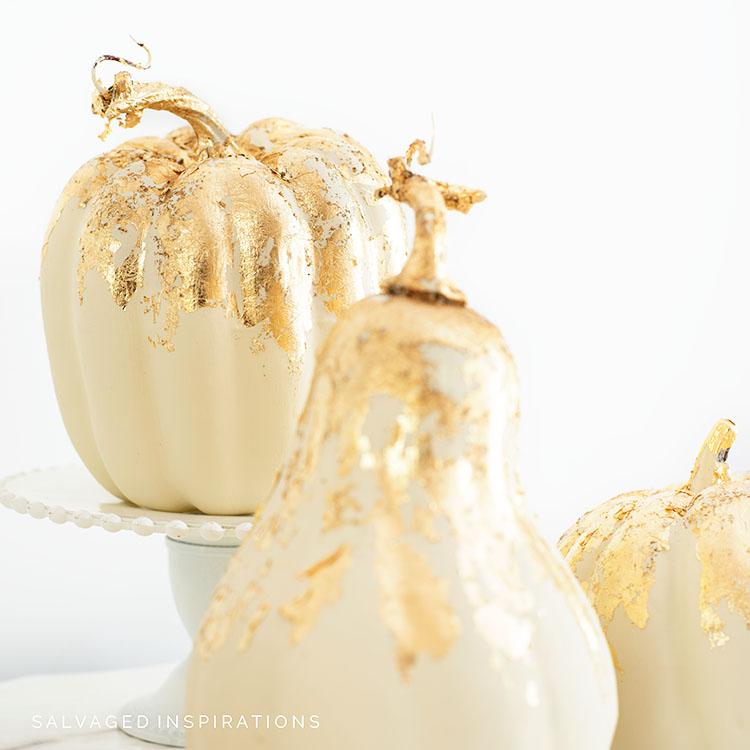 Gold Leafed Painted Pumpkins IG