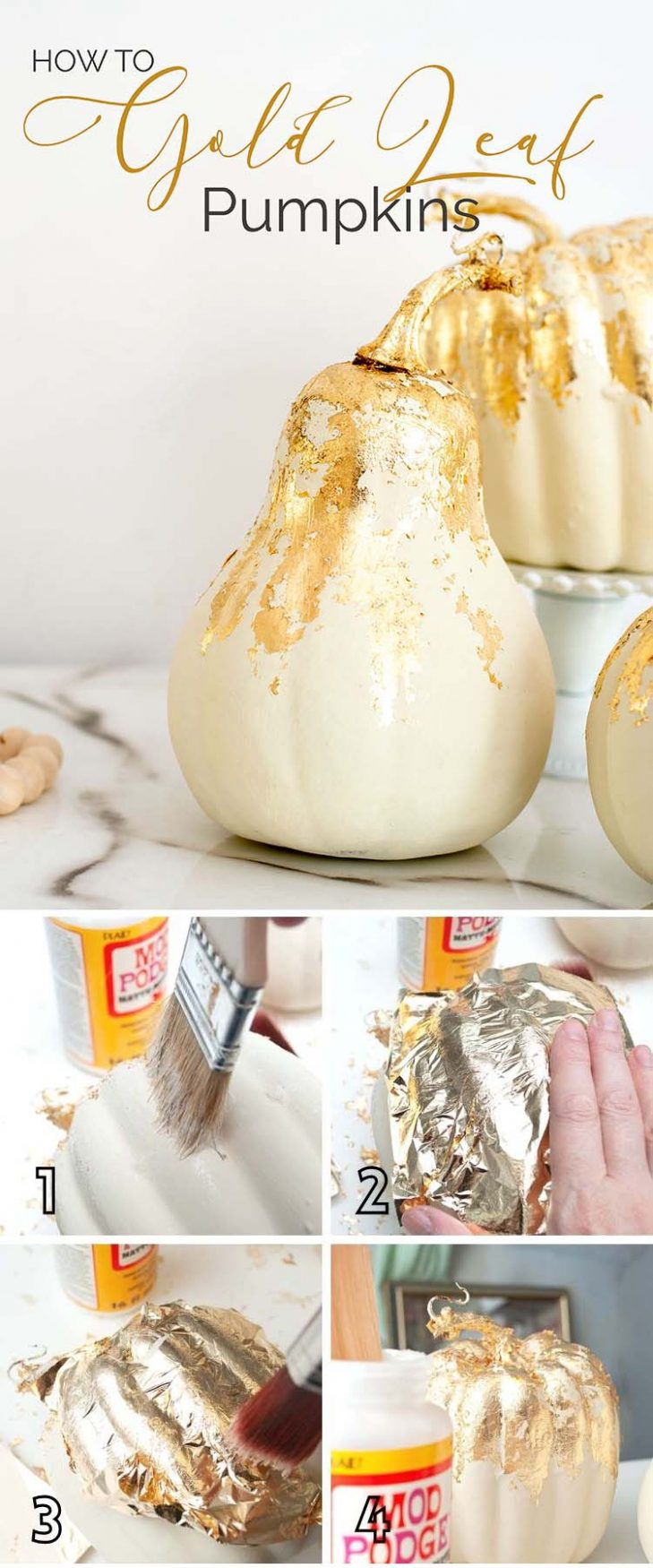 HOW To Gold Leaf Pumpkins PIN
